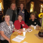 Camellia Garden Club of Clayton members Jolene Gothard, Carol Keefe, Betty Lee, Myrna Clayton and Marilyn Miller enjoyed the day