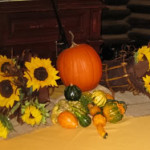 The beautiful fall centerpiece